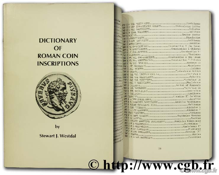Dictionary of roman coins inscriptions WESTDAL S.-J.