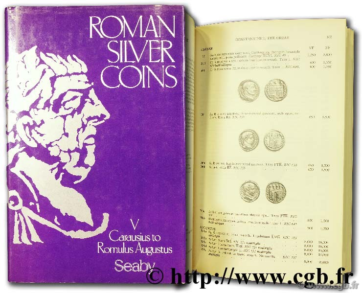 Roman silver coins - V - Carausius to Romulus Augustus SEABY H.-A.