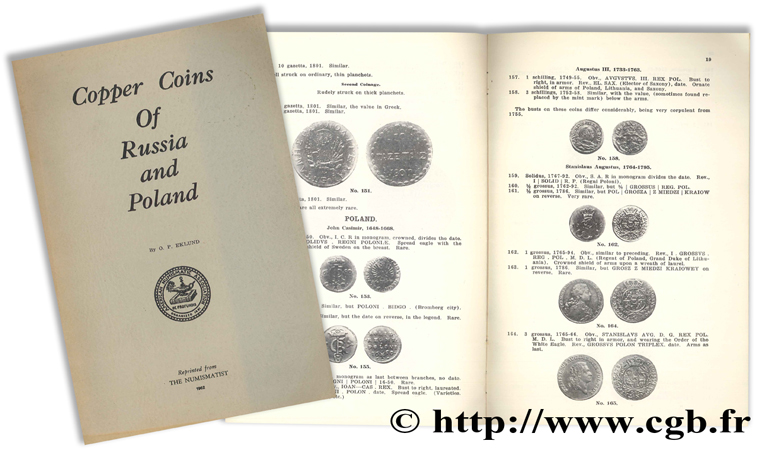 Copper Coins of Russia and Poland EKLUND O. P.