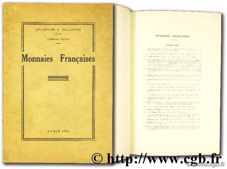 Collection V. Guilloteau, monnaies françaises RATTO M.