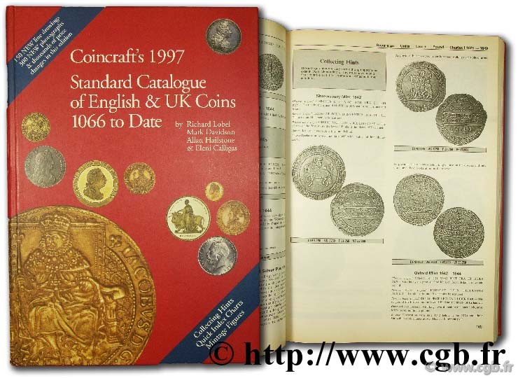 Coincraft s 1997, Standart catalogue of english & UK Coins 1066 to date CALLIGAS E., DAVIDSON M., HAILSTONE A., LOBEL R.