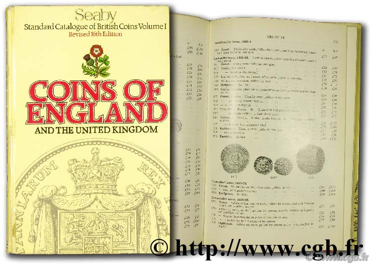 Coins of England  SEABY H.-A.