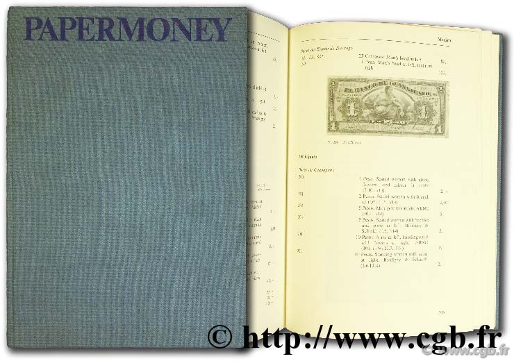 Papermoney, catalogue of the Americas PICK A.