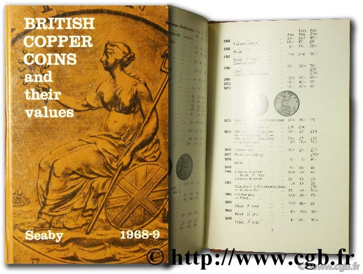 Britih Copper Coins and their values SEABY P.