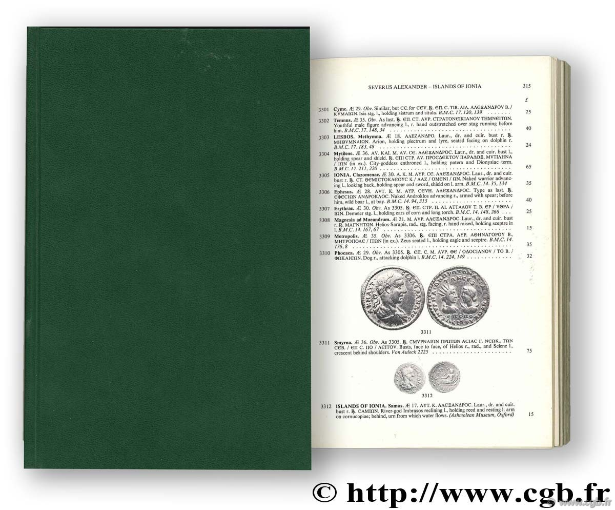 Greek imperial coins and their values : the local coinages of the Roman Empire SEAR D.-R.