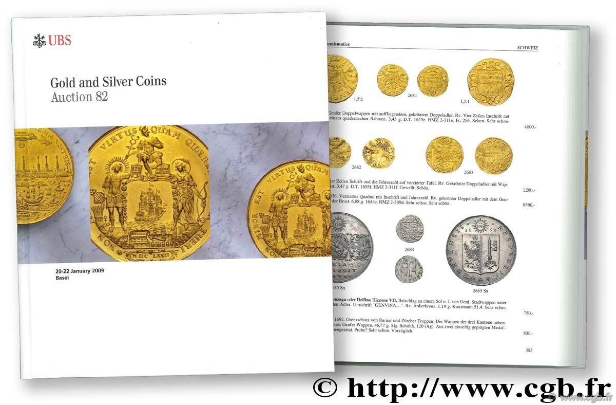 Gold and Silver Coins, auction 82, 20-22 janvier 2009