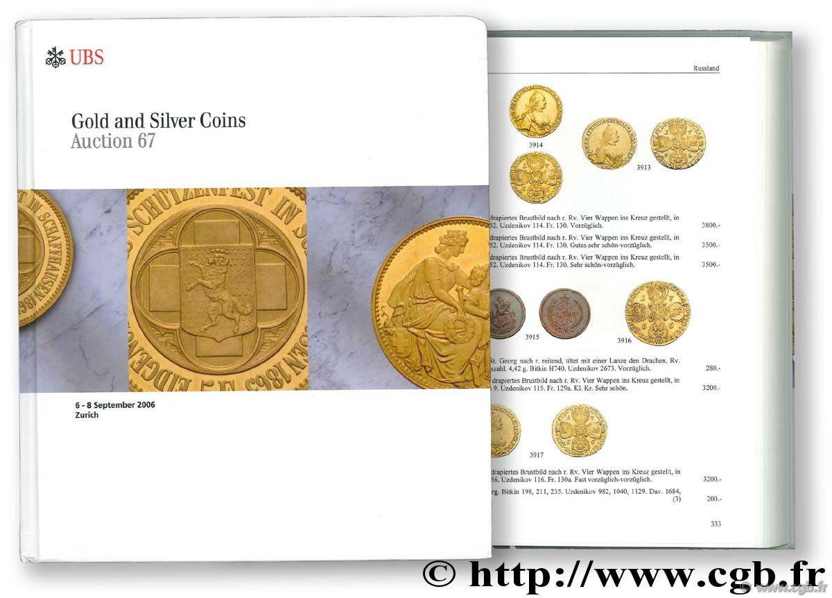 Gold and Silver Coins, auction 67, 6-8 septembre 2006