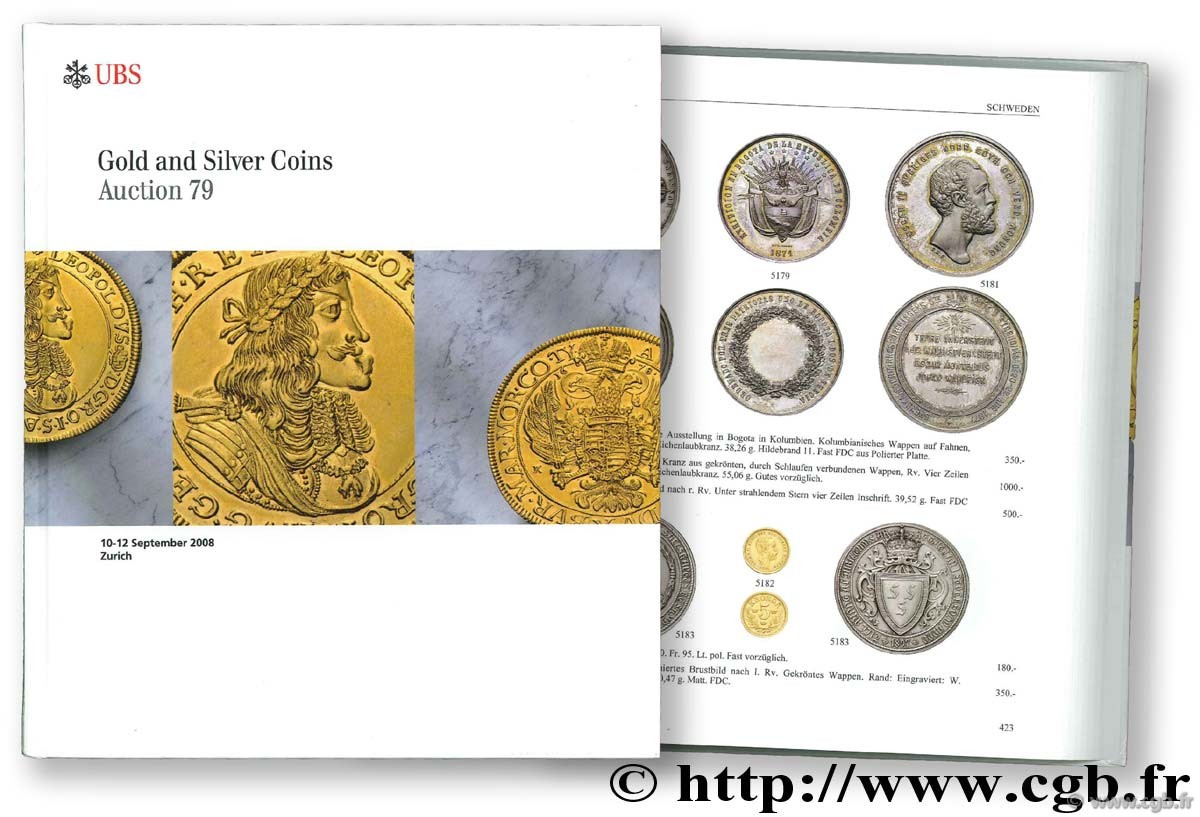 Gold and Silver Coins, auction 79, 10-12 septembre 2008