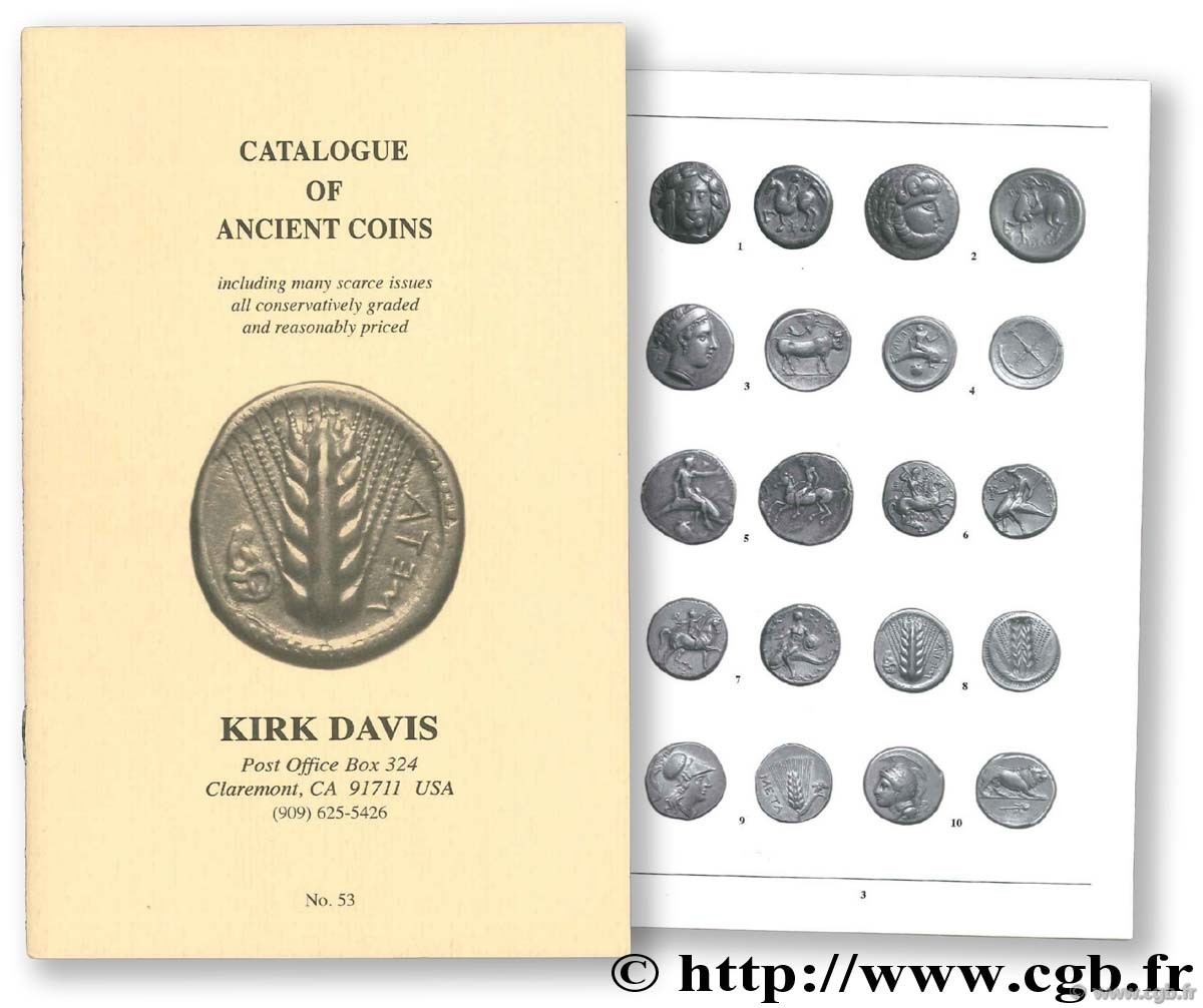 Catalogue of Ancient Coins n° 53, Spring 2008 DAVIS K.