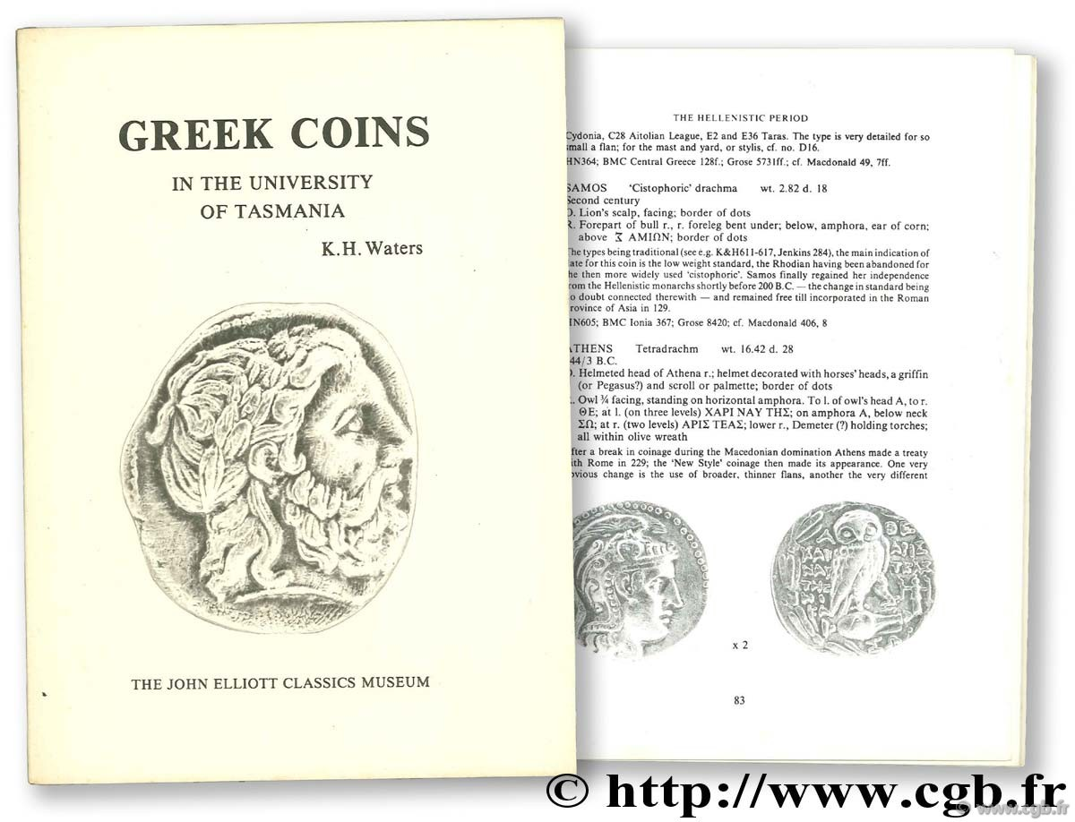 Greek Coins in the University of Tasmania WATERS K.-H.