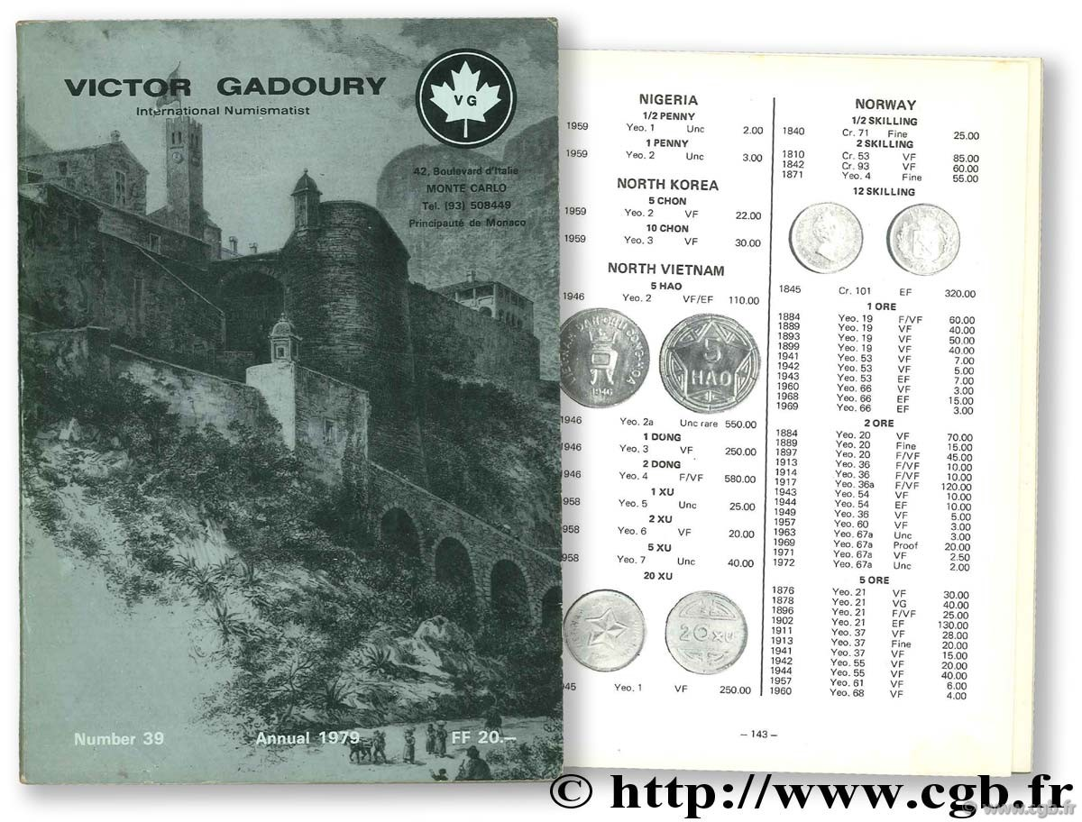 World Coins 1979 GADOURY V.