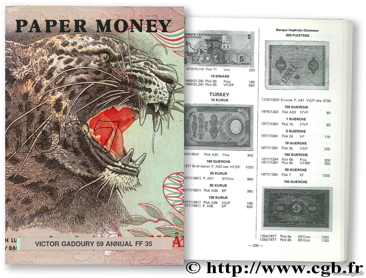 Paper money 1987 GADOURY V.