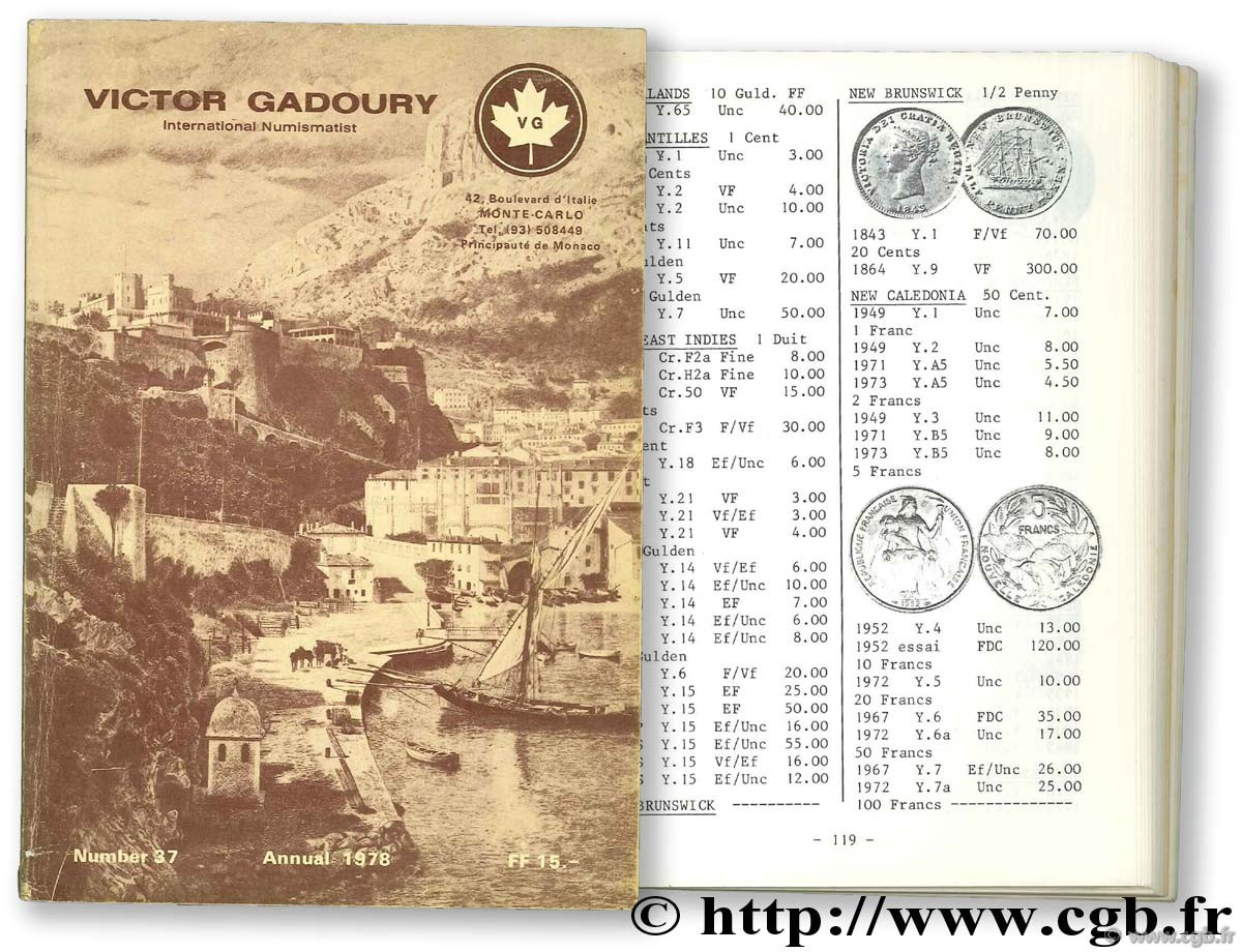 Paper money 1978 GADOURY V.