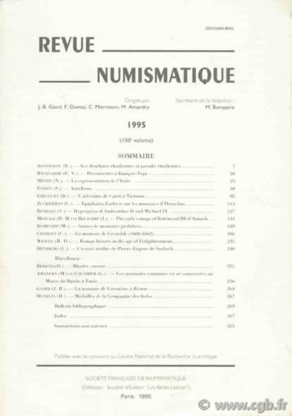 Revue Numismatique 1995, 150e volume