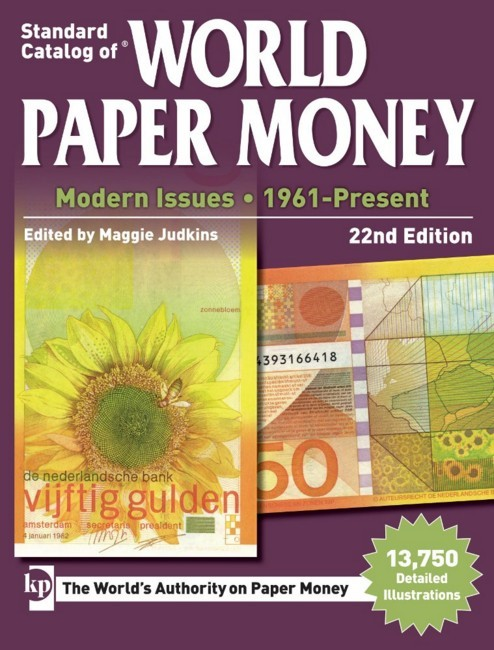 Standard Catalog of World Paper Money - Modern Issues : 1961-Present 22nd Edition JUDKINS Maggie