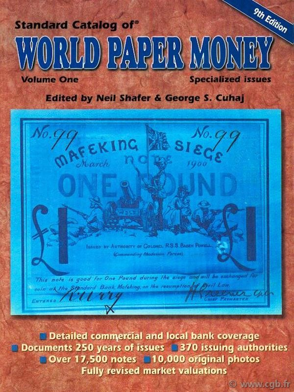 World paper money Vol.I specialized issues, 9e édition PICK Albert