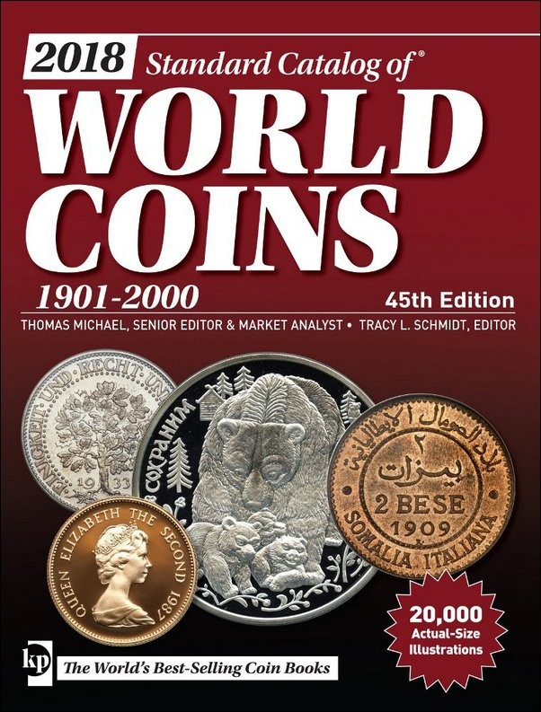 2018 Standard Catalog of World Coins 1901-2000 - 45th edition