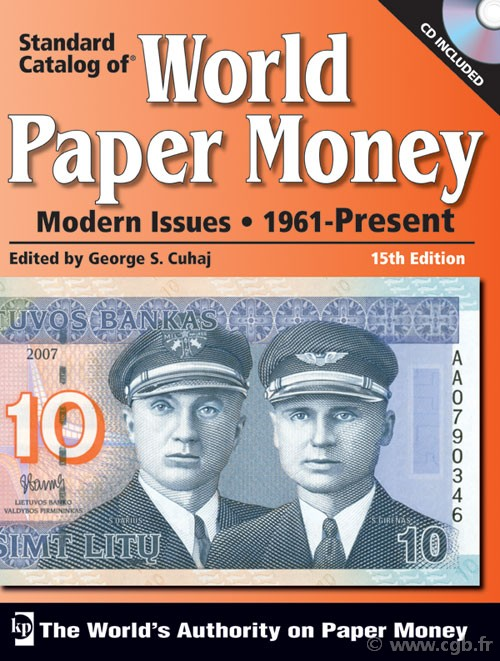 World paper money, modern issues (1961-Present) - 15th edition CUHAJ George S.