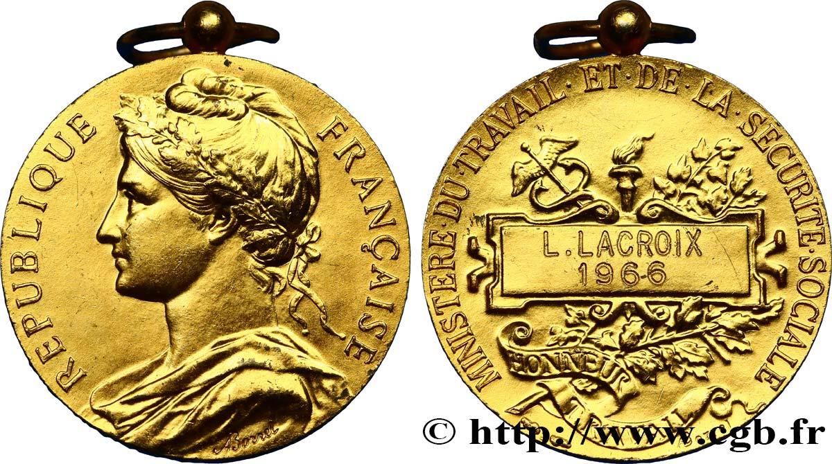 a11150bcb2d CINQUIÈME RÉPUBLIQUE Médaille du ministère du travail fme 445243 ...