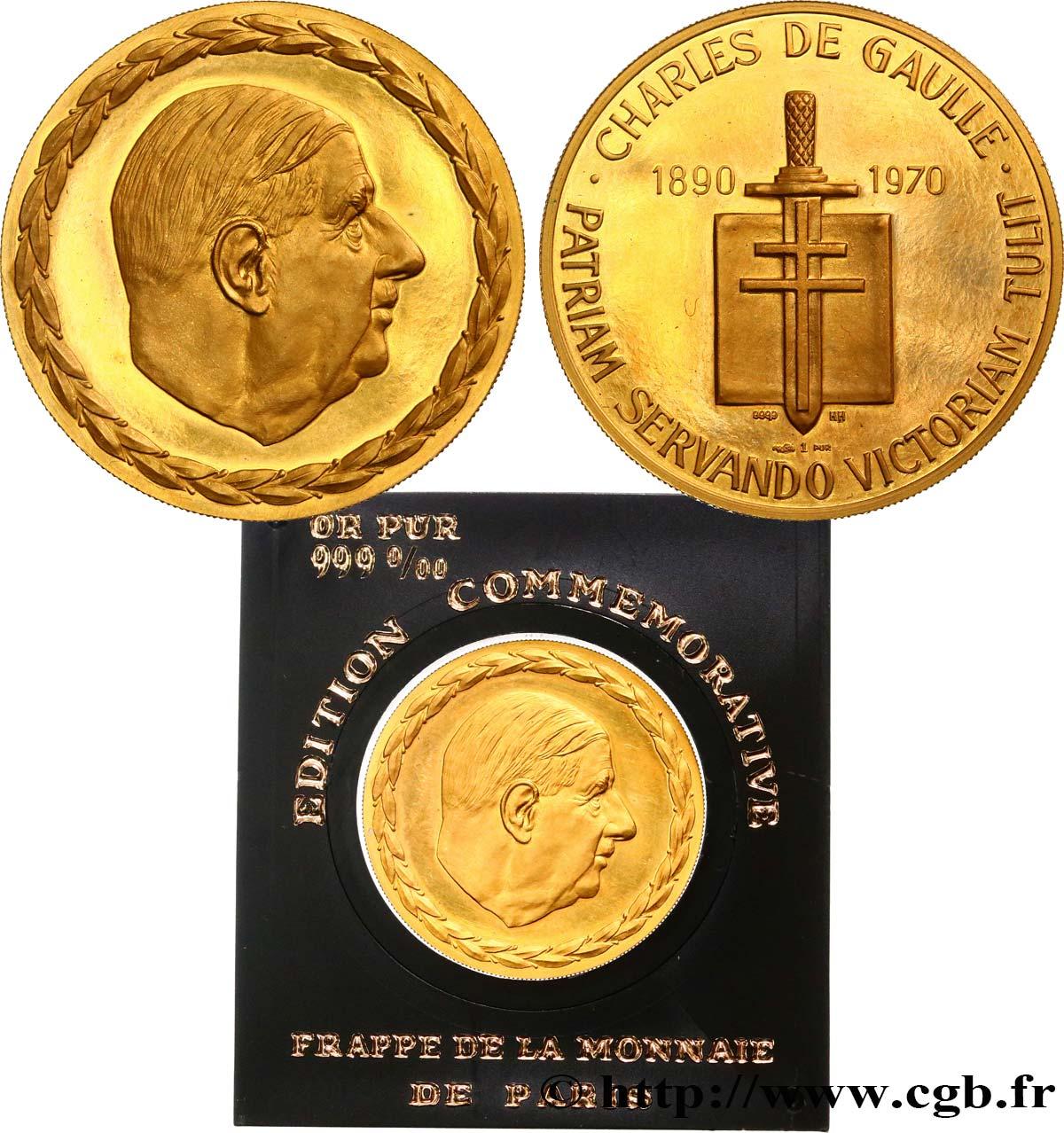 qualité incroyable prix le plus bas dessins attrayants CINQUIÈME RÉPUBLIQUE Médaille du Général De Gaulle ...