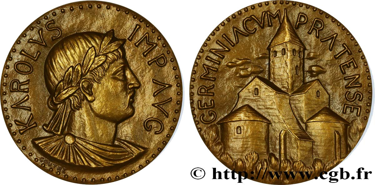 CHARLES Ier DIT  CHARLEMAGNE  Médaille de Charlemagne, Germinicum SUP