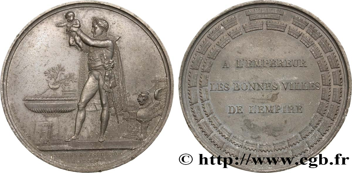 PREMIER EMPIRE / FIRST FRENCH EMPIRE Médaille, Baptême du roi de Rome AU