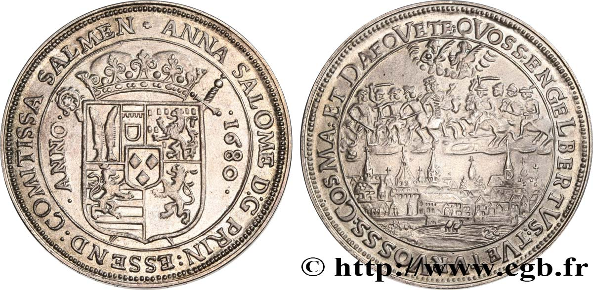 GERMANIA Médaille, Reproduction du Reichstaler de 1680 q.SPL