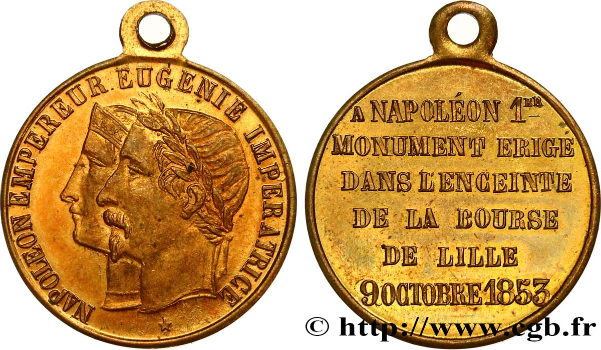 SECOND EMPIRE Médaille, Bourse de Lille SUP