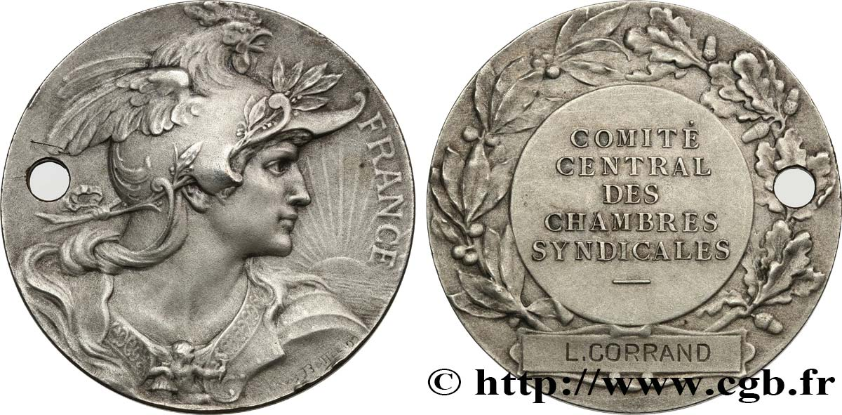 ASSOCIATIONS PROFESSIONNELLES - SYNDICATS Médaille de récompense, FRANCE TTB+