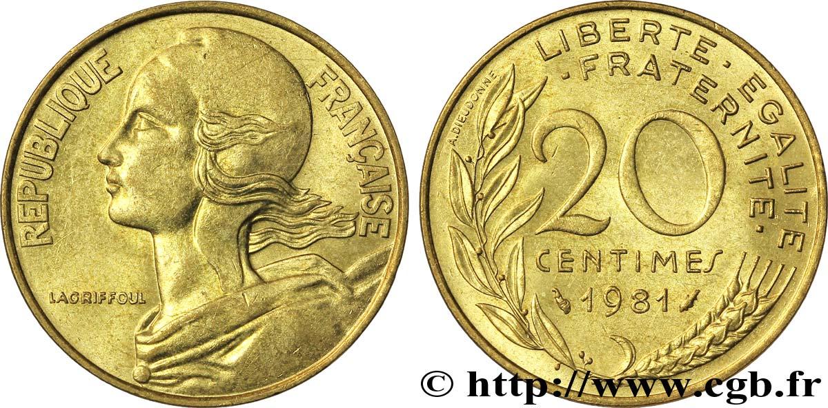 20 Centimes Marianne 1981 Pessac F 156 21 Fmd 062968 Modernes