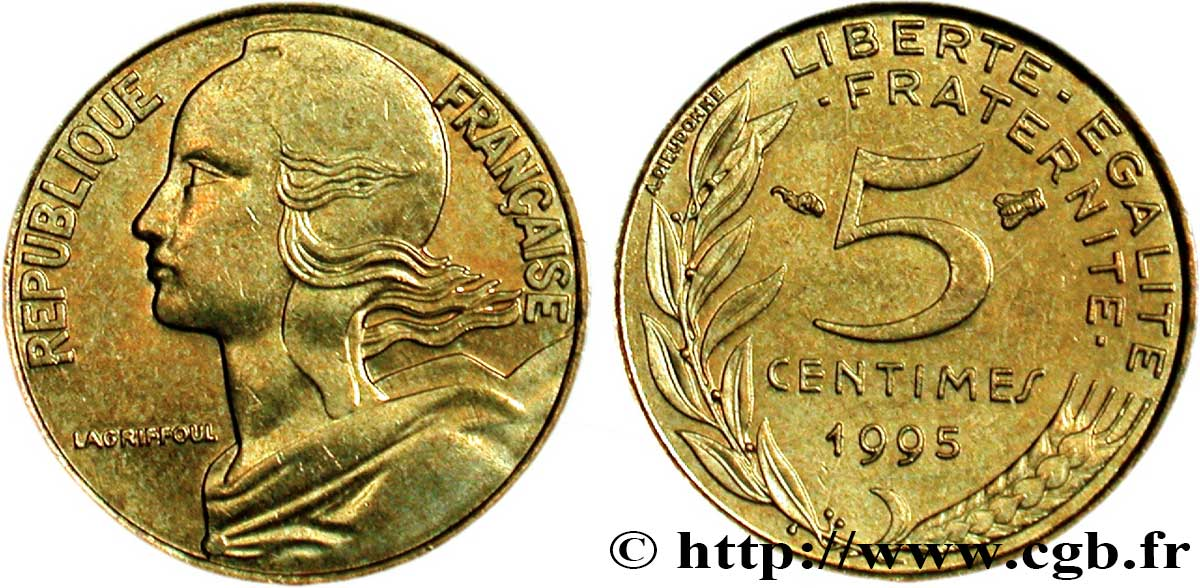 5 Centimes Marianne 3 Plis 1995 Pessac F12537 Fmd077031 Moderne