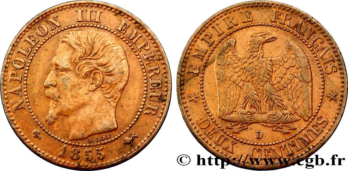 Deux Centimes Napoléon Iii Tête Nue 1855 Lyon F10731 Fmd092181