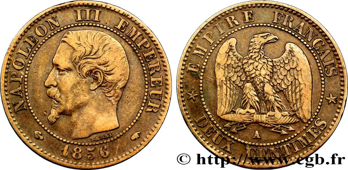 Deux Centimes Napoléon Iii Tête Nue 1856 Paris F10738 Fmd092215