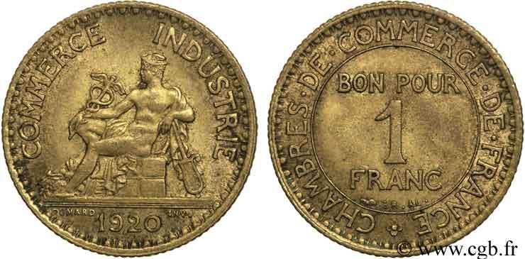 1 franc chambres de commerce 1920 paris fmd 108449 for Chambre commerce international paris