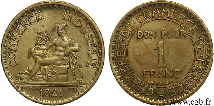 1 franc chambres de commerce 1921 paris fmd 108510 for Chambre de commerce internationale paris arbitrage