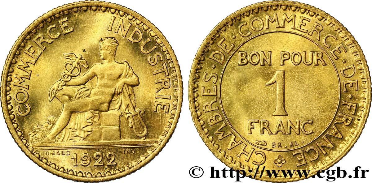 1 franc chambres de commerce 1922 paris ms63 fmd for Chambre commerce industrie paris