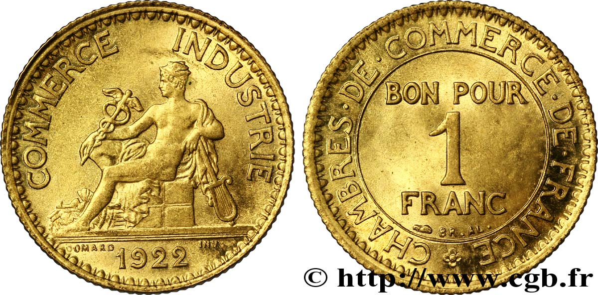 1 franc chambres de commerce 1922 paris fmd 108523 for Chambre de commerce de france bon pour 2 francs