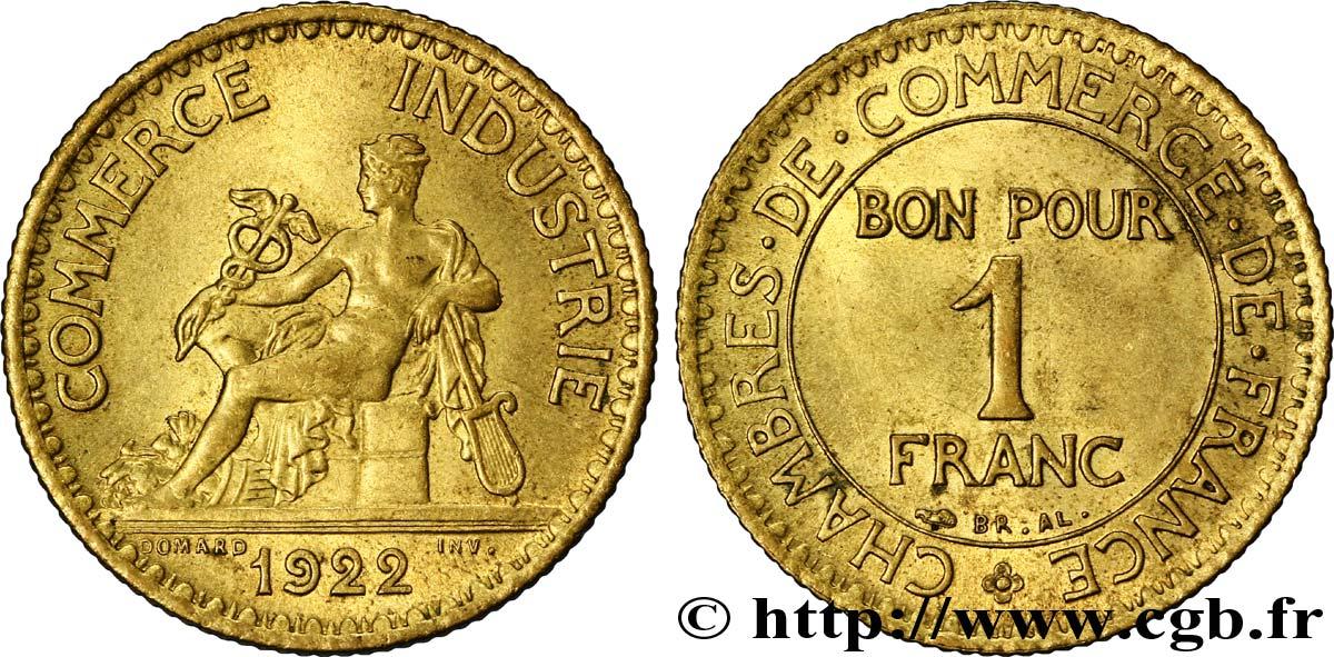 1 franc chambres de commerce 1922 paris fmd 108524 for Chambre commerce industrie paris