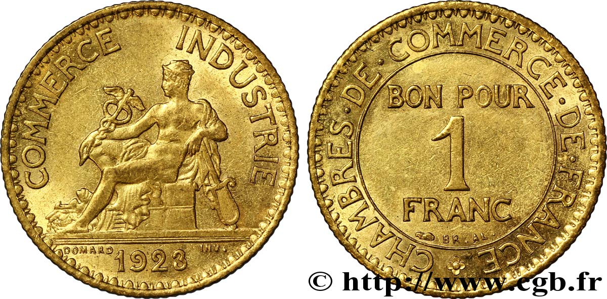 1 franc chambres de commerce 1923 paris fmd 108532 for Chambre de commerce tuniso francaise