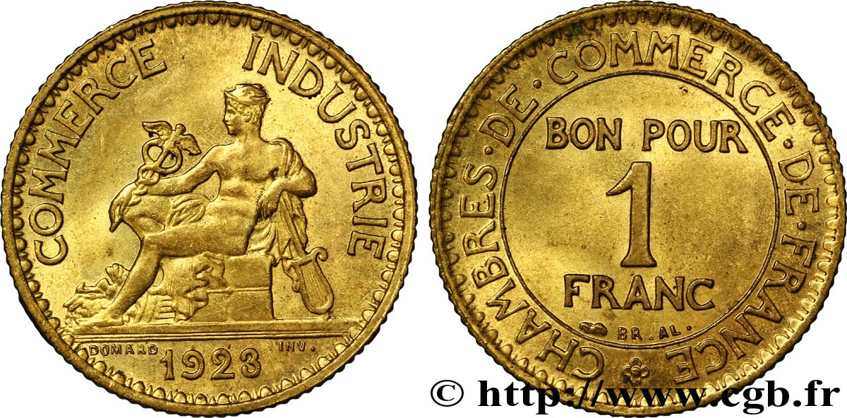 1 franc chambres de commerce 1923 paris fmd 108534 for Chambre de commerce algero francaise