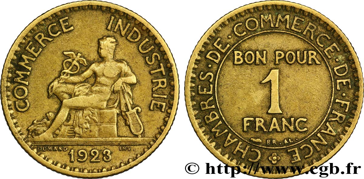1 franc chambres de commerce 1923 paris fmd 108539 for Chambre de commerce internationale paris arbitrage