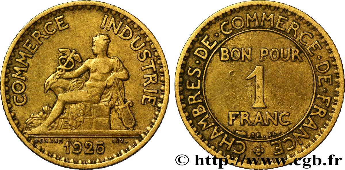 1 franc chambres de commerce 1925 paris fmd 108584 for Chambre commerce industrie paris