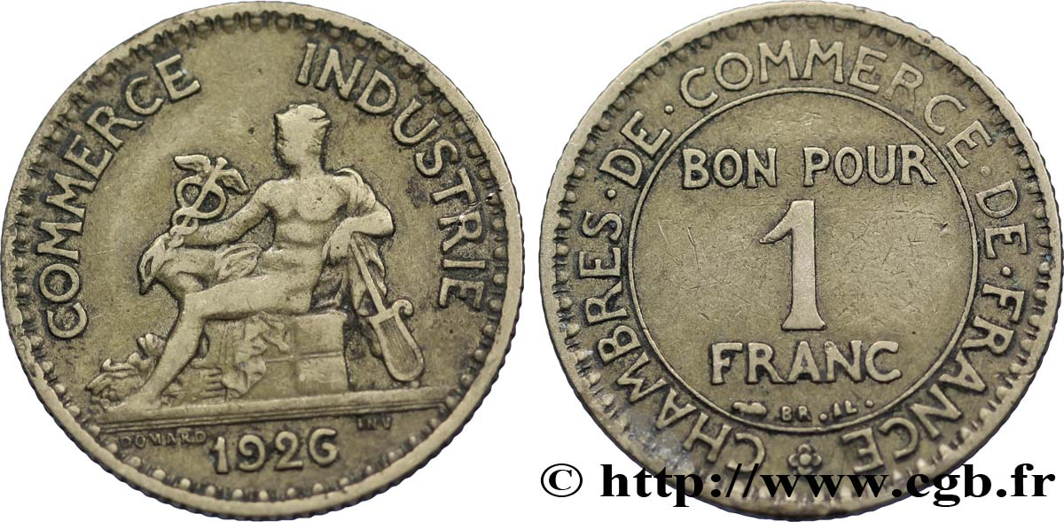 1 franc chambres de commerce 1926 paris fmd 108590 for Chambre de commerce internationale paris arbitrage