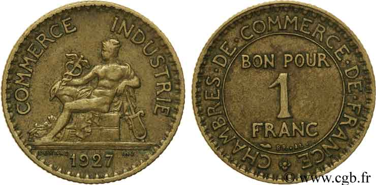 1 franc chambres de commerce 1927 paris fmd 108602 for Chambre de commerce internationale paris arbitrage
