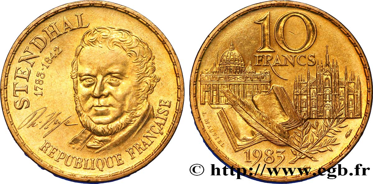 10 francs Stendhal 1983  F.368/3 SUP60