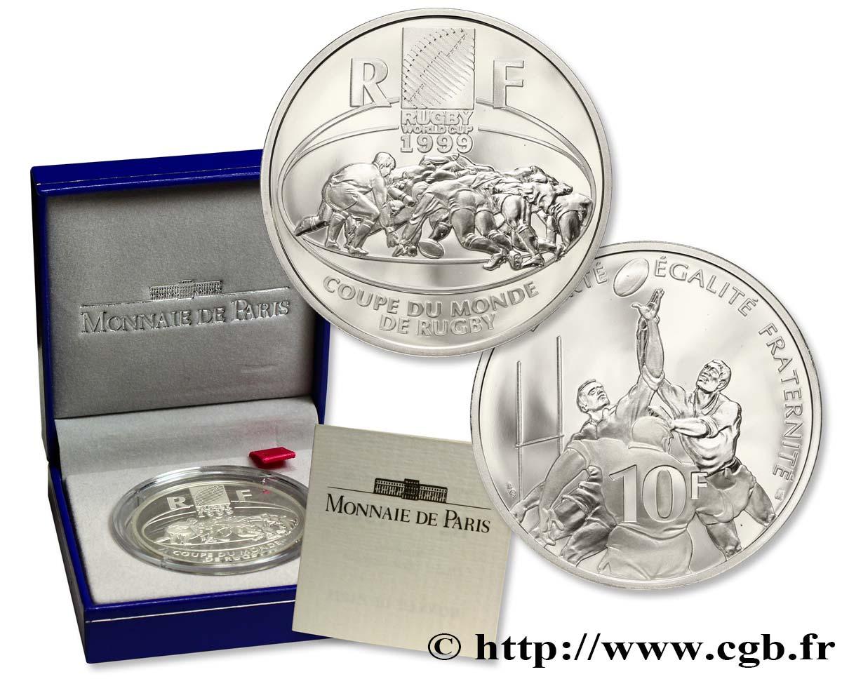 Belle preuve 10 francs coupe du monde de rugby 1999 1 fmd 111423 modernes - Rugby coupe du monde 1999 ...