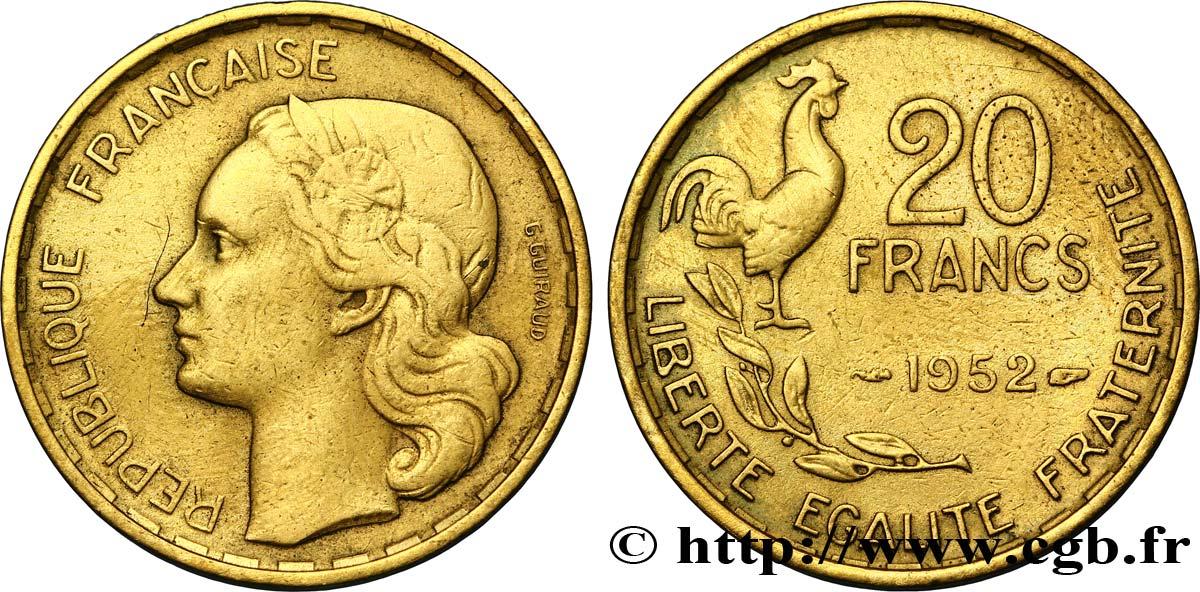 20 Francs G Guiraud 1952 F4029 Fmd118064 Modernes