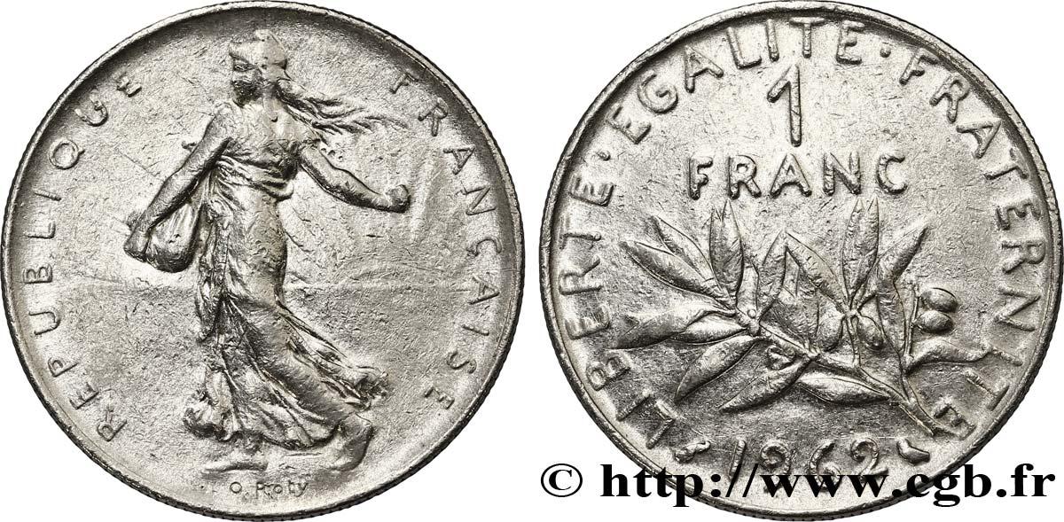 1 franc Semeuse, nickel 1962 Paris F.226/7 fmd_118294 Modernes