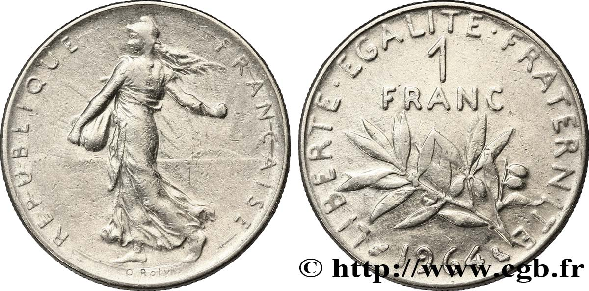 1 franc Semeuse, nickel 1964 Paris F.226/8 TTB40