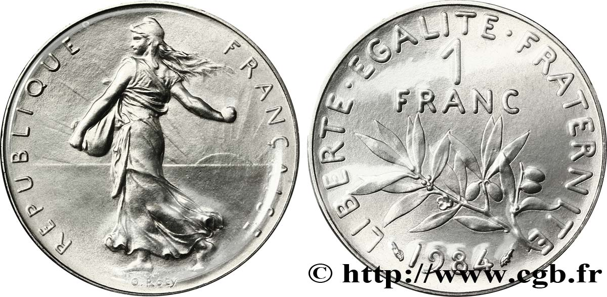 1 franc Semeuse, nickel 1984 Pessac F.226/29 MS70
